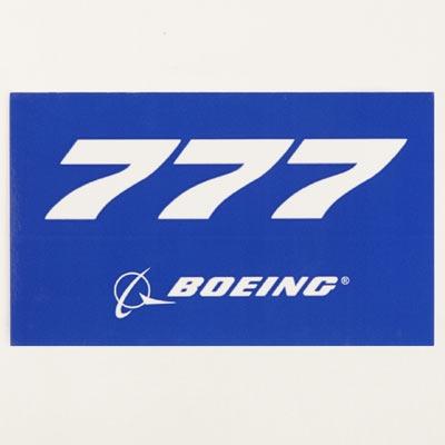 Sticker Boeing 777 Blue