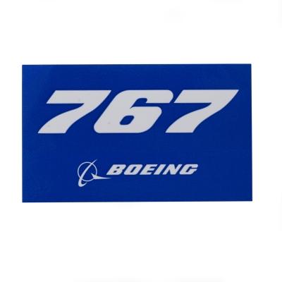 767 Sticker blue