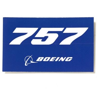 757 Sticker Blue