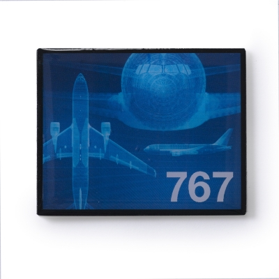 Boeing 767 Magnet  Frame