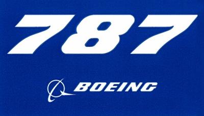 787 Dreamliner Blue Sticker