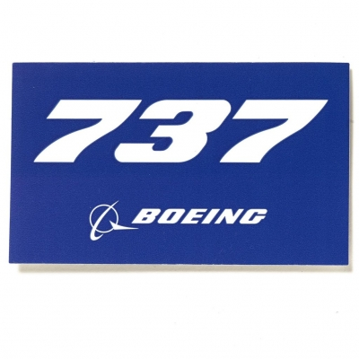 737 Sticker  Blue