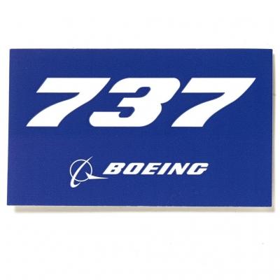 737 Sticker  Blue