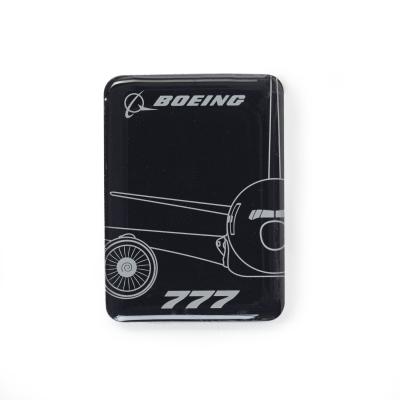 Boeing 777 Magnet Midnight Silver