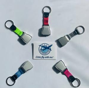 Keyring Seatbelt Alu Premium