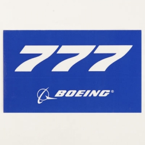 Sticker Boeing 777 Blue