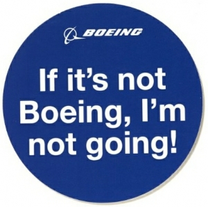 Sticker Boeing not going