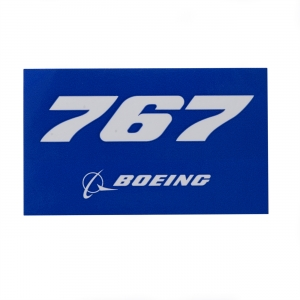 767 Sticker blue