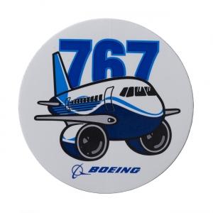 Boeing 767 Pudgy Sticker