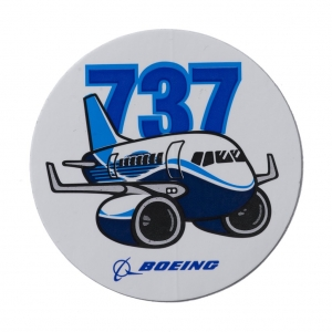 Pudgy 737 Sticker