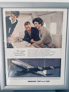 Orig. 1959 Boeing 707 Werbung
