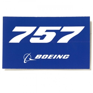 757 Sticker Blue