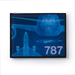 Boeing 787  Kühlschrankmagnet