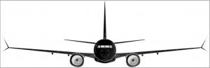 Sticker Boeing 737 Silhouette
