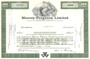 Historical Massey-Ferguson LTD stock