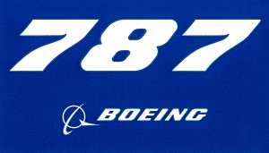 787 Dreamliner Blue Sticker