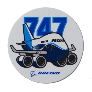 Sticker Boeing 747 Pudgy