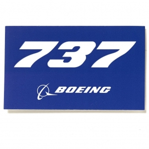 Sticker Boeing 737 Blue