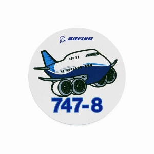 Pudgy 747-8 Sticker